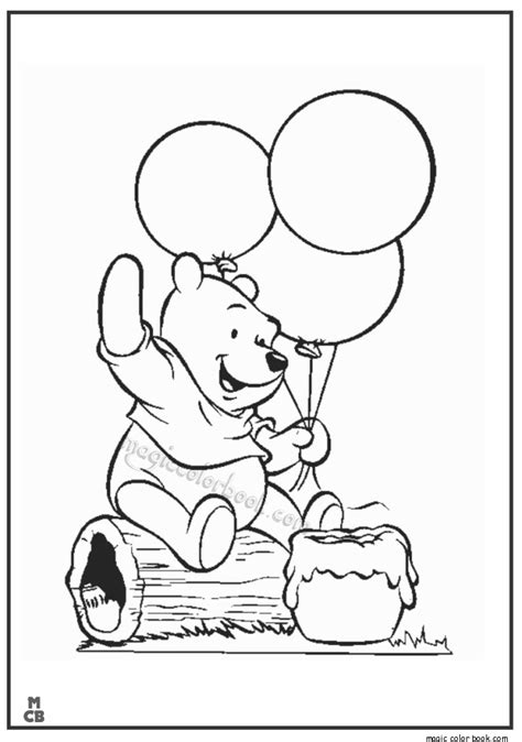 Winnie The Pooh Birthday Coloring Pages winnie the pooh birthday coloring pages