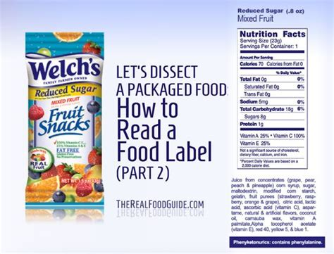2 fruit by the foot in one package dissecting packaged food how to read a food label part 2