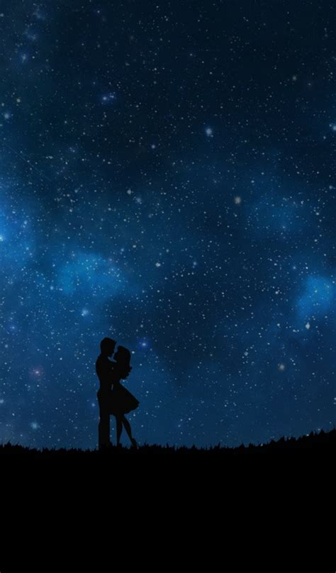 couple wallpaper for tab 600x1024 starry sky couple love galaxy tab 2 wallpaper