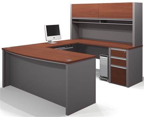 small u shaped desk connexion bordeaux slate u shaped workstation with small