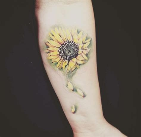 realistic sunflower tattoo small sunflower design ideas