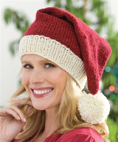 pattern for father christmas hat knit santa hat knitting pattern red heart