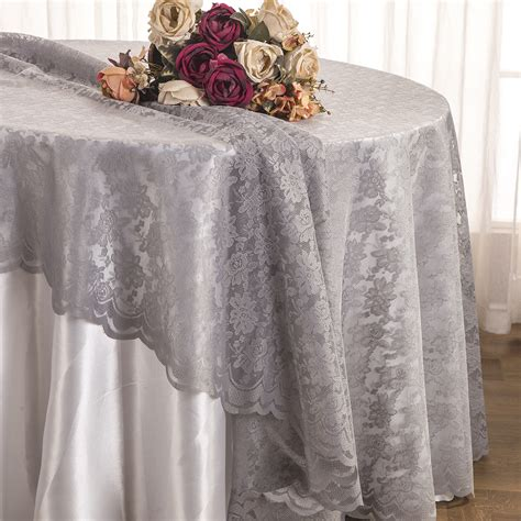 silver lace table overlay silver lace table overlays linens toppers