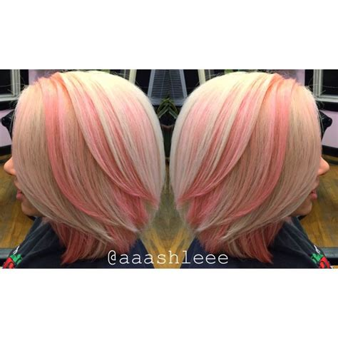platinum bob with pastel highlights 1000 ideas about pink hair highlights on pinterest