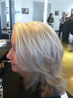 short grey hair with highlights betsy hyman added betsy hyman added highlights and lowlights to lynn caulder