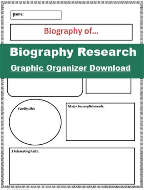 inventor biography graphic organizer 2nd grade biography rubric 1000 images about rubrics on