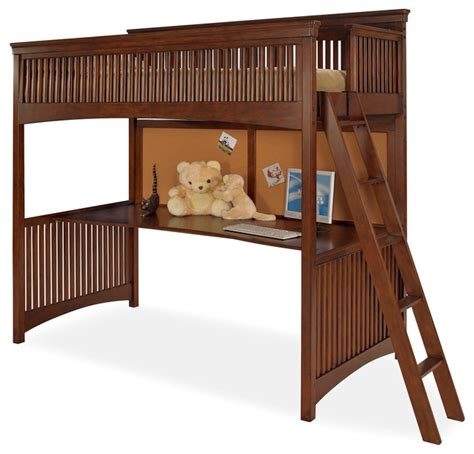Loft Beds Without Desk by Lea Elite Crossover Loft Bed With Desk Top In Burnished