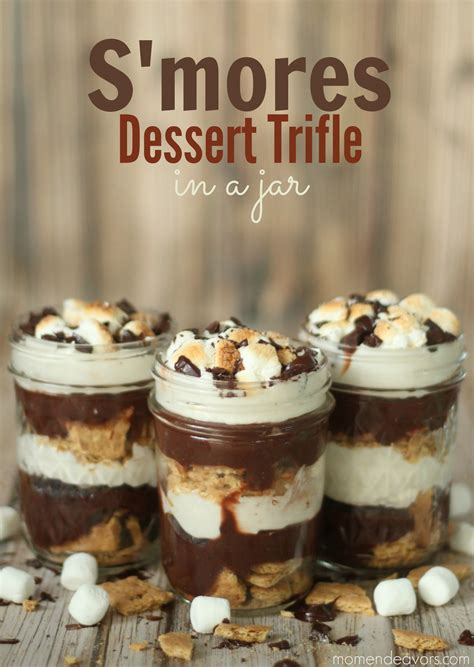 s mores dessert trifle in a jar