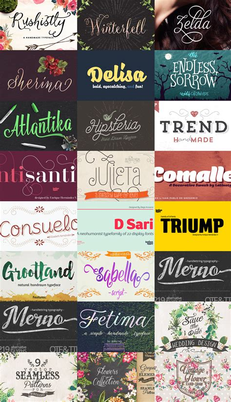 Best Handmade Fonts - best custom fonts and graphics the fancy deal
