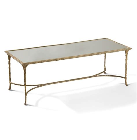 Mirrored Coffee Table Delano Regency Antique Gold Sculpted Leaf Mirrored Coffee Table Kathy Kuo Home