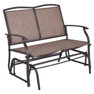 2 person armchair costway op3100 patio glider rocking bench double 2 person