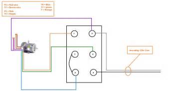 need help setting up the forward drum switch on my split phase motor