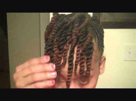 natural hair: side twist with two strand updo youtube