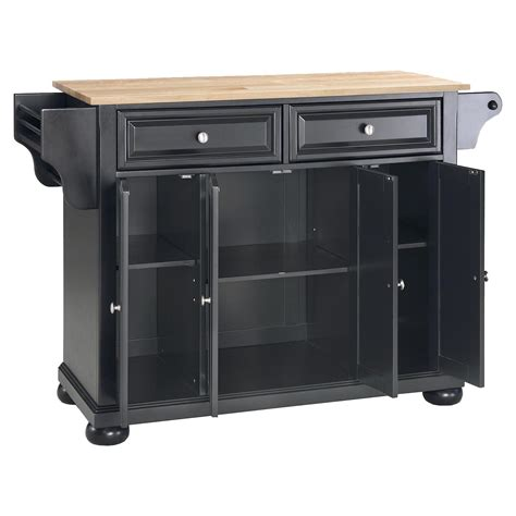 alexandria kitchen island alexandria wood top kitchen island black dcg