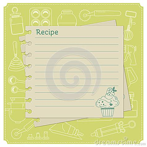 recipe card template free vector blank cake themed recipe cards for your sweet creations