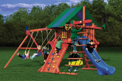 wood kingdom swing set prices fun n joy playsets elite series