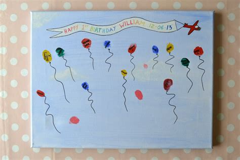 painting for small childrens william s birthday diy memory canvas write like