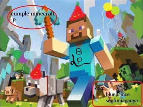 imagenes originales de minecraft fiesta de cumplea 241 os especial minecraft youtube