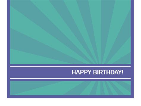 office birthday card template cards office