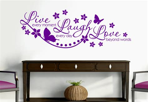 live every moment wonderful wall decal quote