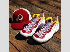 "Nike Air Foamposites ""Redskins"" Customs by Kreative Custom ... Retro 6 Maroon"