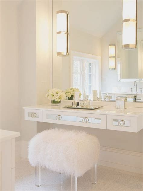 Bathroom Makeup Bench Vanity Fluffy Stool So Interior And Exterior