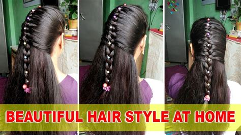 how to make beautiful hairstyles at home youtube how to make beautiful hairstyles at home in hindi youtube