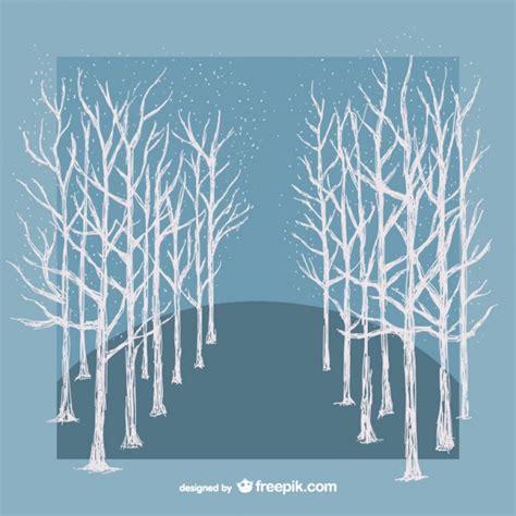 winter white tree white winter trees vector vector free