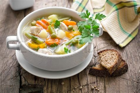 vegetables z wave chicken soup with vegetables stock photo colourbox