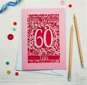 birthday card personalised papercut flower birthday card by pogofandango