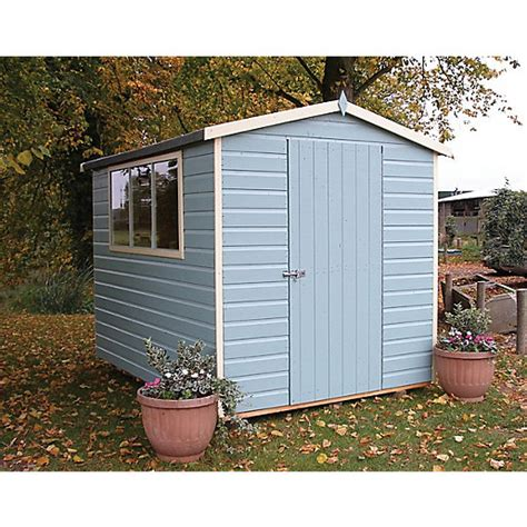 Wickes Shed Paint by Wickes Easy Assembly Timber Shiplap Apex Shed 6 X 8 Ft