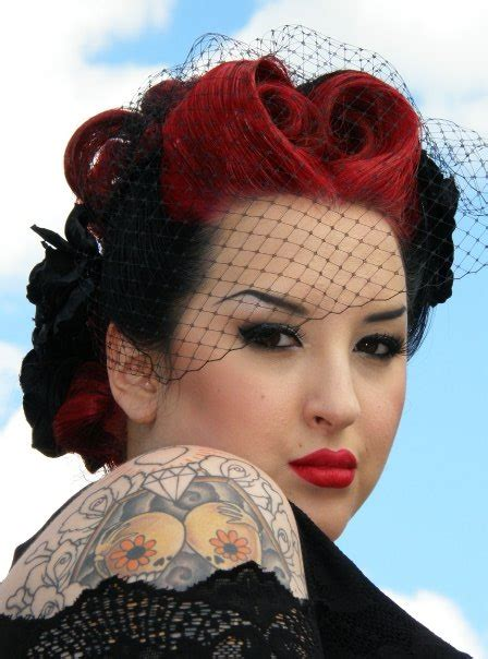 pin up 1950s black hairstyles wedding hair styles the misadventures of a rockabilly bride
