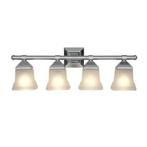 Portfolio Vanity Light Shop Portfolio 4 Light 10 4 In Brushed Nickel Bell Vanity Light At Lowes