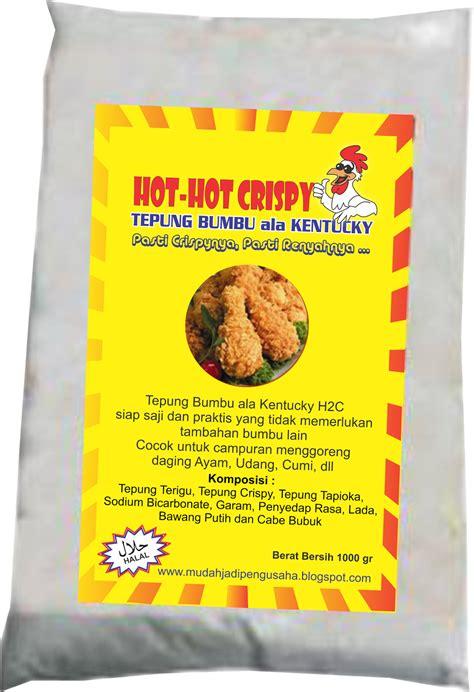 Tepung Bumbu Ayam Goreng Fried Chicken Standar 1000 Gram resep ayam goreng ala kentucky crispy