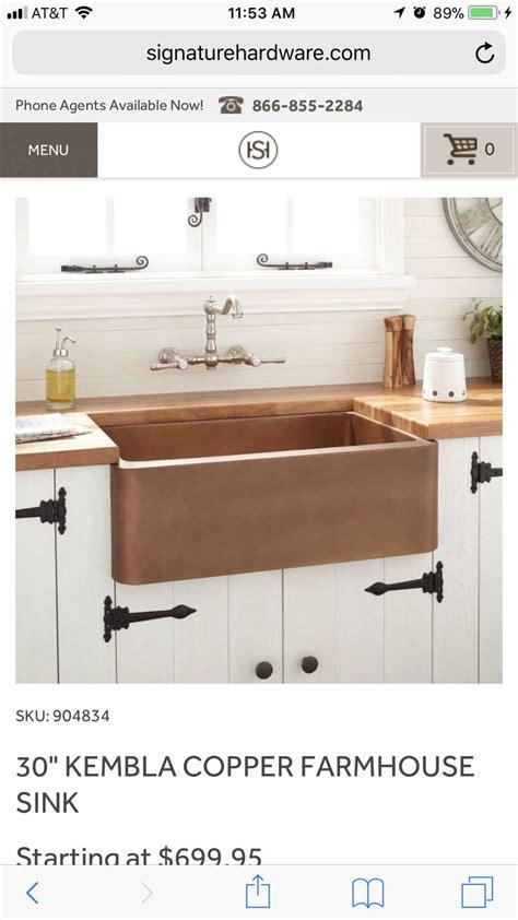 signature hardware kitchen sinks best 25 copper farmhouse sinks ideas on
