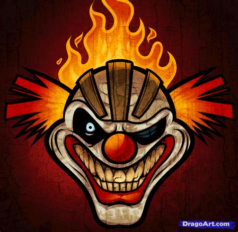 twisted metal tattoo how to draw sweet tooth twisted metal step by step