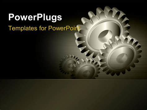 powerpoint themes gears powerpoint template industrial gears over steel grey