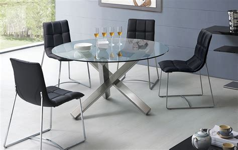 Glass Kitchen Laredo Tx by Stylish Black Stitched Dining Chairs Laredo Esf500dc