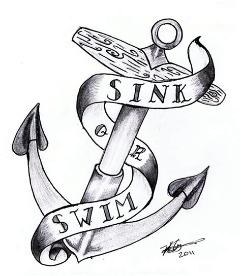 sink or swim tattoo designs pin sink or swim sailor jerry style anchor ideas on