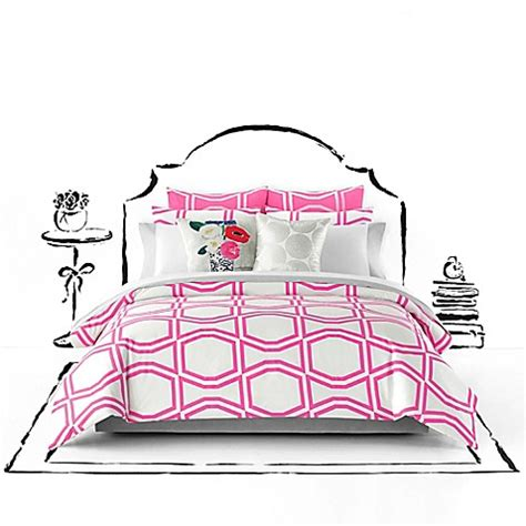 Kate Spade New York Bow Tile Duvet Cover Set Bed Bath Kate Spade Bed Set