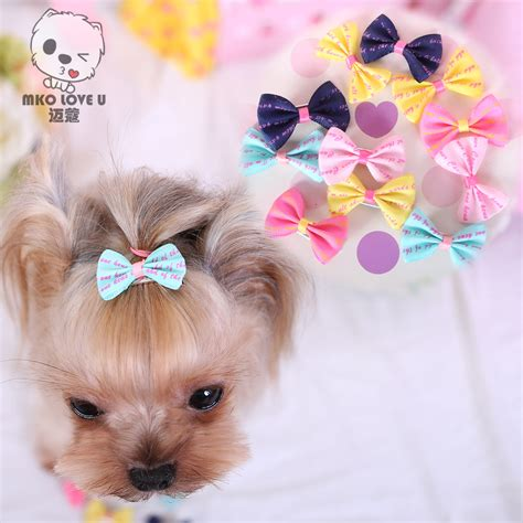 puppy accessories pet grooming bows small hair accessories grooming hair bows with puppy hair