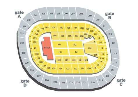 bryce center detailed seating chart arena map bryce center