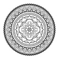 easy flower mandala coloring pages flowers ideas