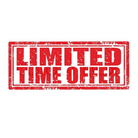 Top Mba Time Programs That Offer Transfer Credits by Limited Time Offer St Stock Vector Colourbox