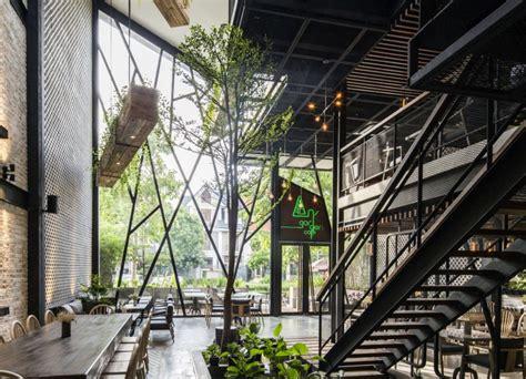 angarden cafe  le house inhabitat green design