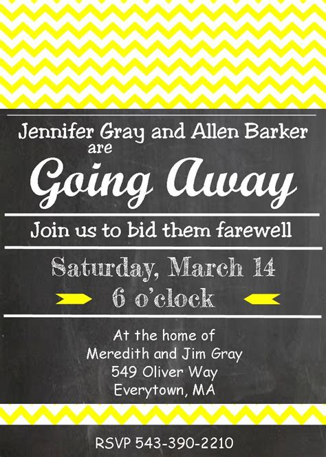 Going Away Party Invitations New Selections 2017 Going Away Invitation Template