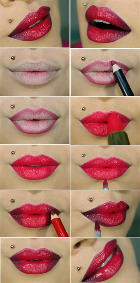 video tutorial lipstik ombre 8 lipstick looks that are cooler than a bold red lip