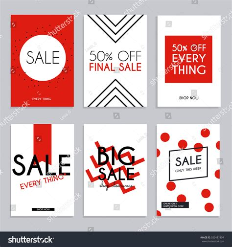 banner design for newsletter sale website banners web template collection stock vector