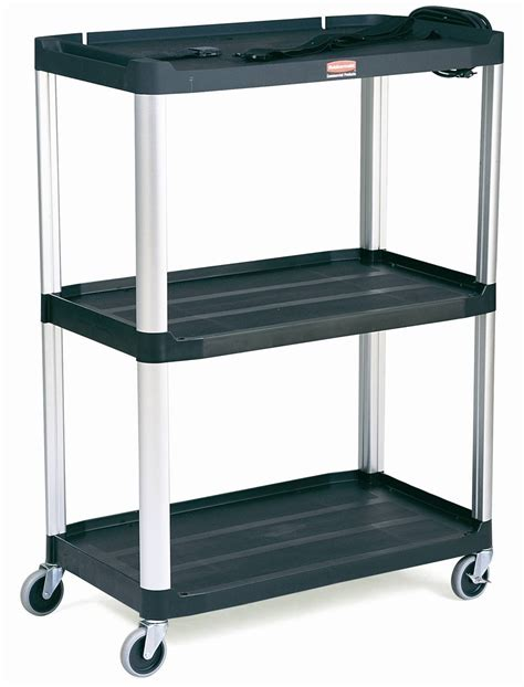 rubbermaid storage shelves rubbermaid 9t33 media master audio visual cart 3 shelves