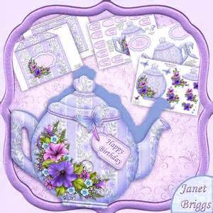 Decoupage Shapes - all wrapped up easel card kit decoupage